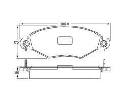 Brake pad for PEUGOET