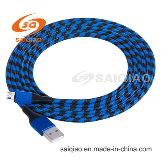 The New Nylon Braided USB V8 Charging Data Cable of Chinese Top Suppliers