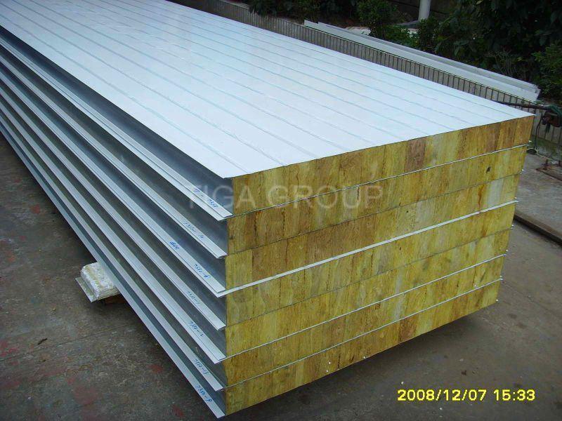Factory Price Roof Panel/Color Steel Rock Wool Sandwich Panel