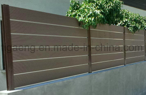 Recyclable Fast Installation WPC Outdoor Use Corridor/Veranda Fence