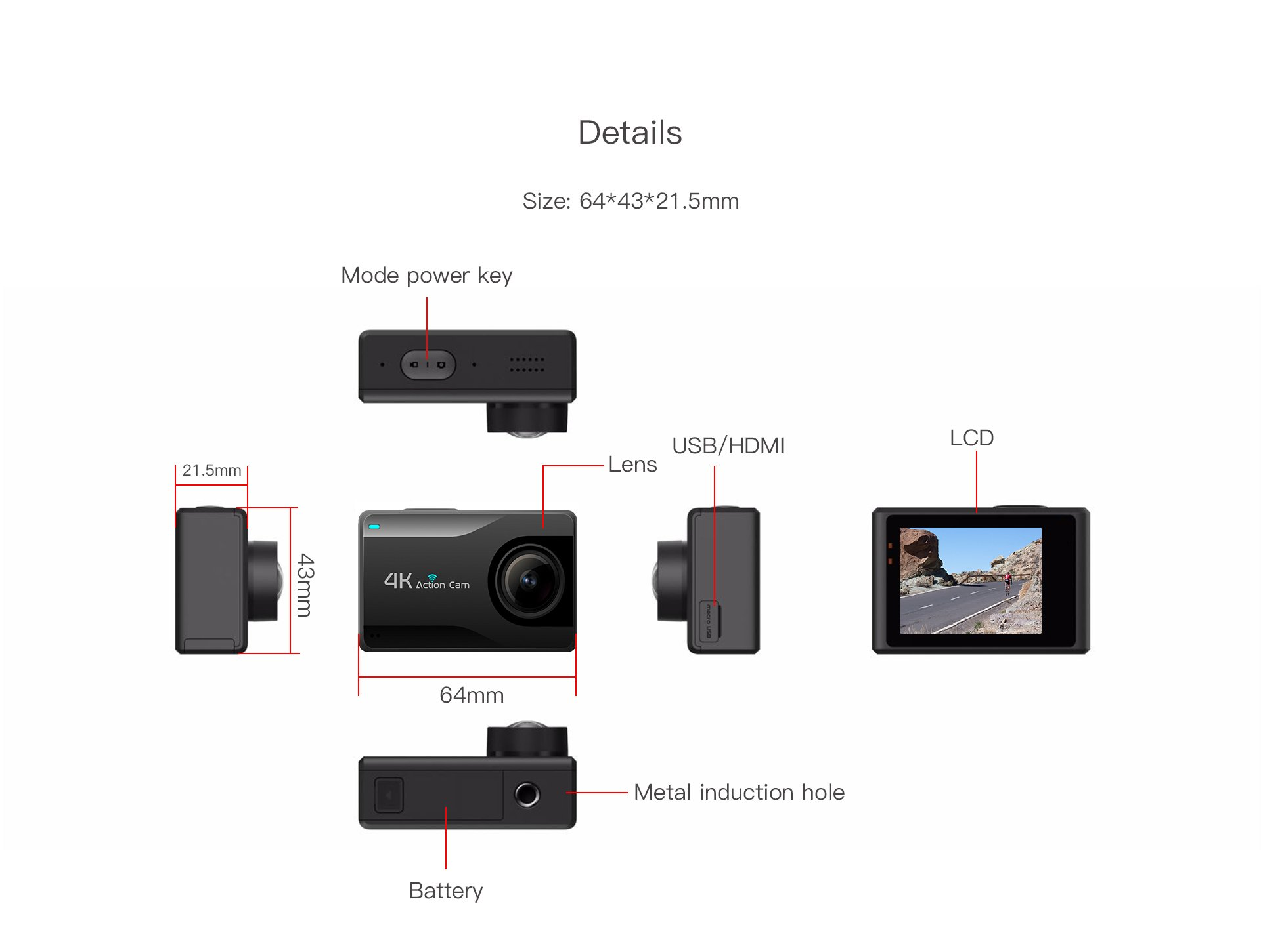 B1KS+ HiSilicon 4K Action Camera Details