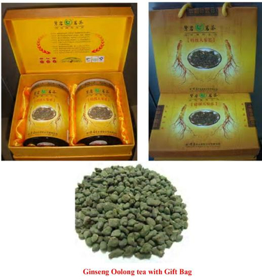 Ginseng Oolong Tea With Gift Package(Sweet and milk Spicy Tea)