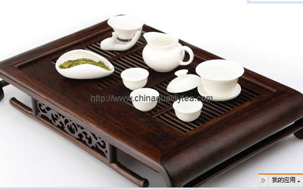 Showing tea tray