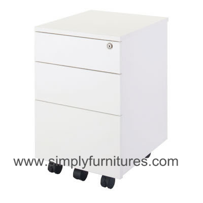 side pull handle mobile cabinet