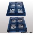1200*1000*125 mm Stack-able plastic pallet with 6 runners bottom and open deck