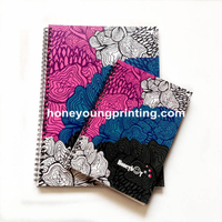 Fancy design notebook spiral binding for student