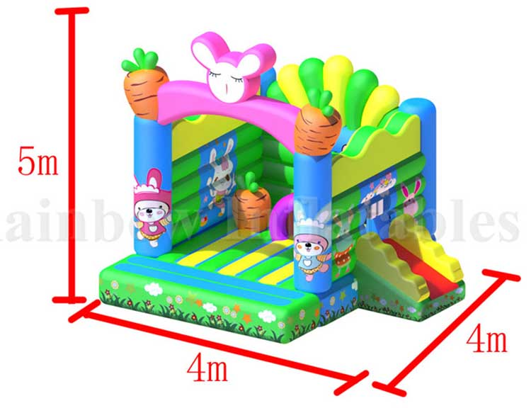 RB01003(4x4.5m)Inflatables animal Bouncer for Kids