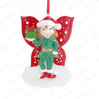 Elf Ornament Personalized Christmas Tree Ornament