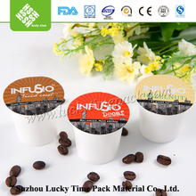 51mm empty disposable k-cup compatible with filter and custom lids