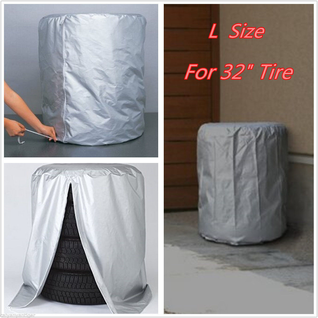 Car SUV Tire Rain/Dust-proof Seasonal Protective Cover Spare Tire Storage Bag