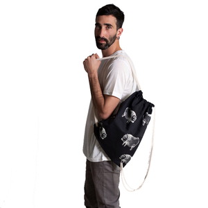 Black Drawstring Backpack Gift For Teens