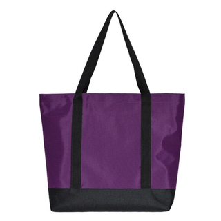 Purple Sturdy Polyester Beach Bag