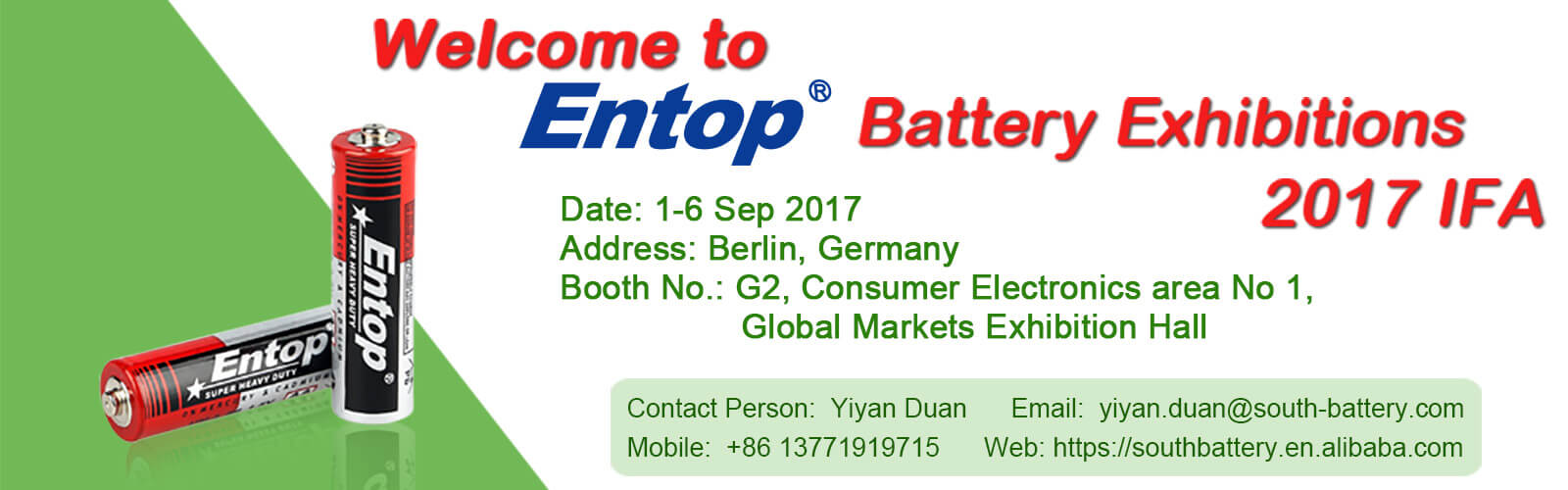 entop battery exhibitions 2017 IFA