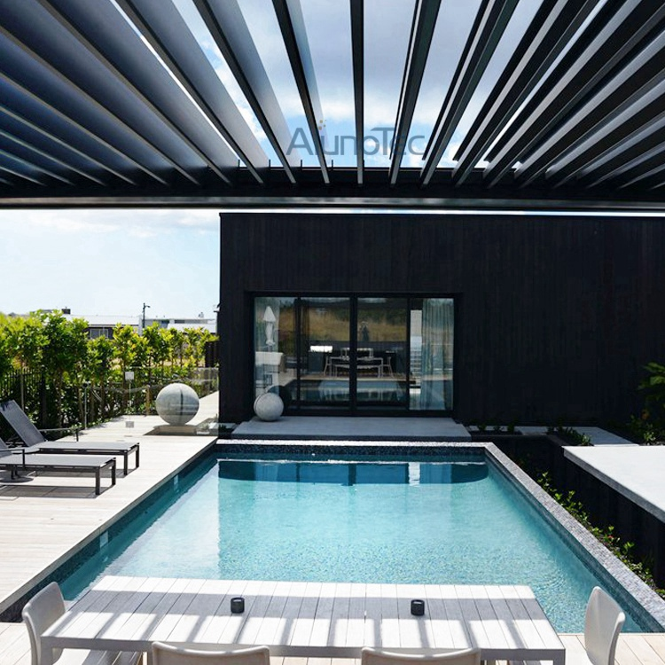 Motorized Louvered Pergola Roof Waterproof Pergola Covers   Buy Pergola Roof,  Pergola Cover, Pergola Design Product On AlunoTec