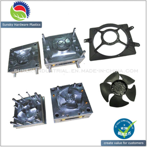 Plastic Injection Radiator Fan Mould / Exhaust Fan Molding/Auto Fan Mold