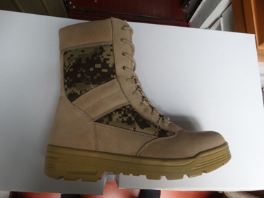 High Quality Army Combat Digital Camo Suede Boot