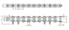Conveyor chains for coal washer