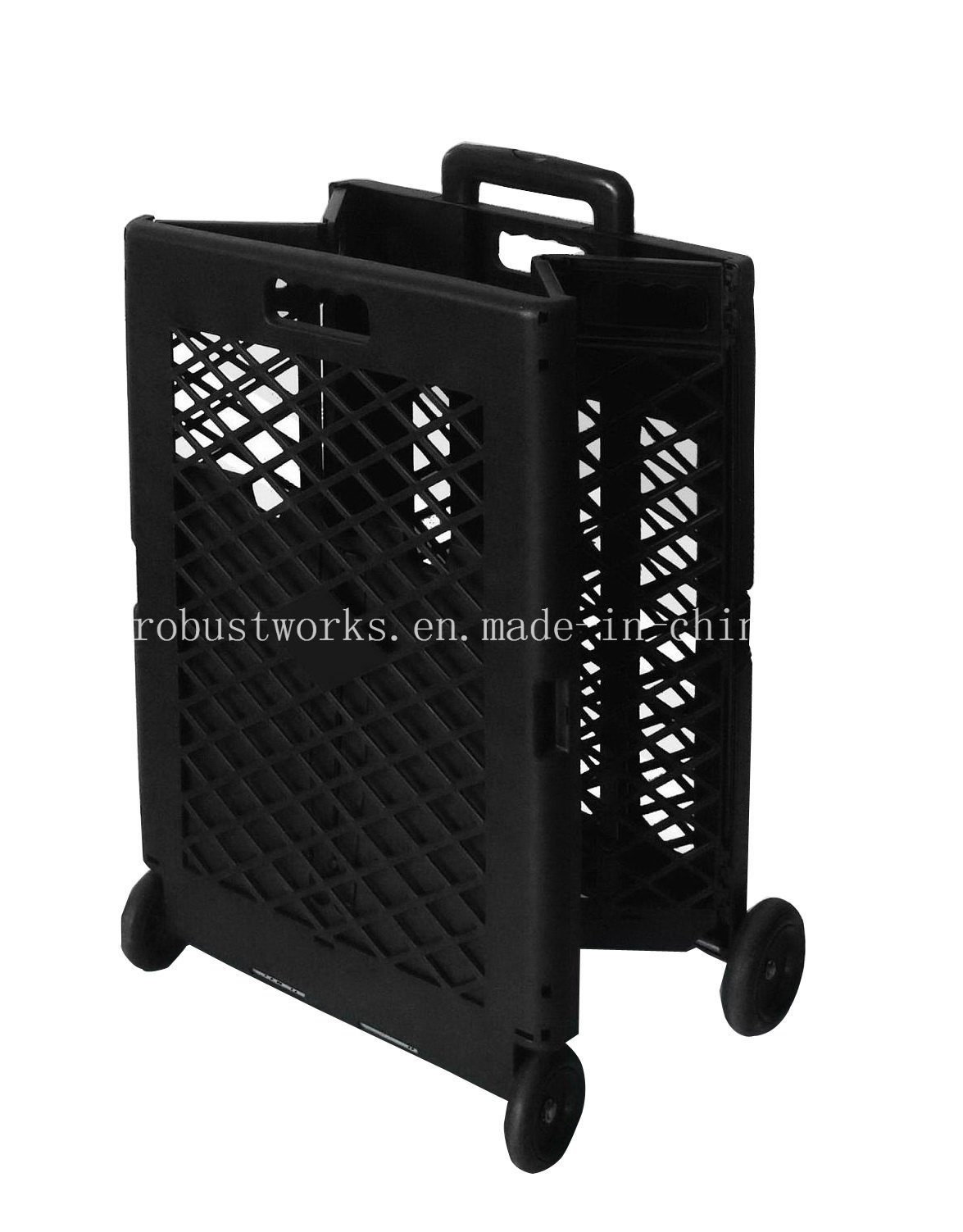 Extra Capacity Plastic Foldable Shopping Cart (FC404KP)
