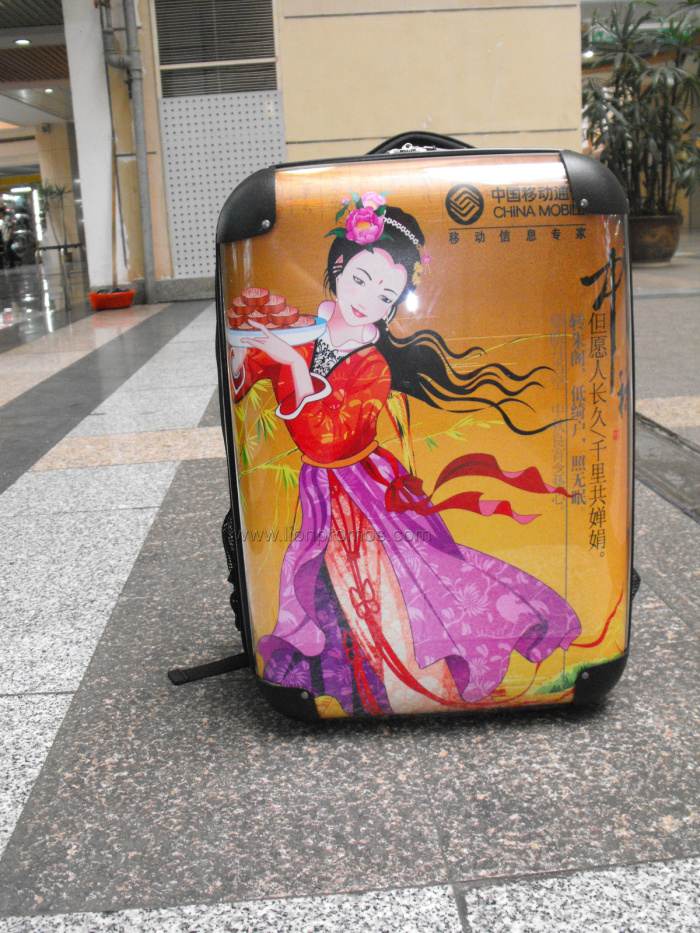 Telecom,Cigeratte,Bank etc New Year Promotional Gift PC Luggage Bag