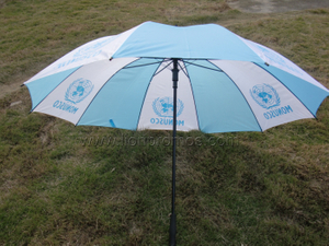 United Nation Logo Straight Golf Umbrella
