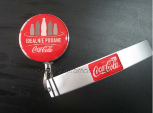 Coca Cola Gift Bottle Opener with Pull Reel