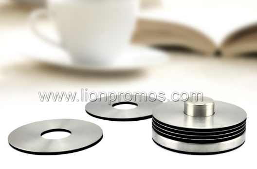 High End Household Gift Round Stainless Steel Metal Coaster