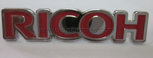 RICOH Cap,Bag Accessory Logo Metal Badge