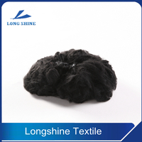 Black Polyester Staple Fiber