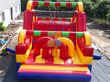 RB5074(10x4m) Inflatable Rainbow Obstacle Course for child