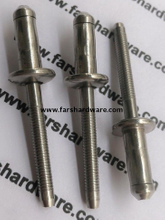 All Stainless Steel Dome Head Hem-Luk Type Blind Rivet