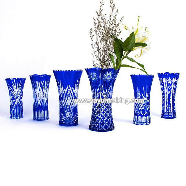 cobalt blue glass flower vase