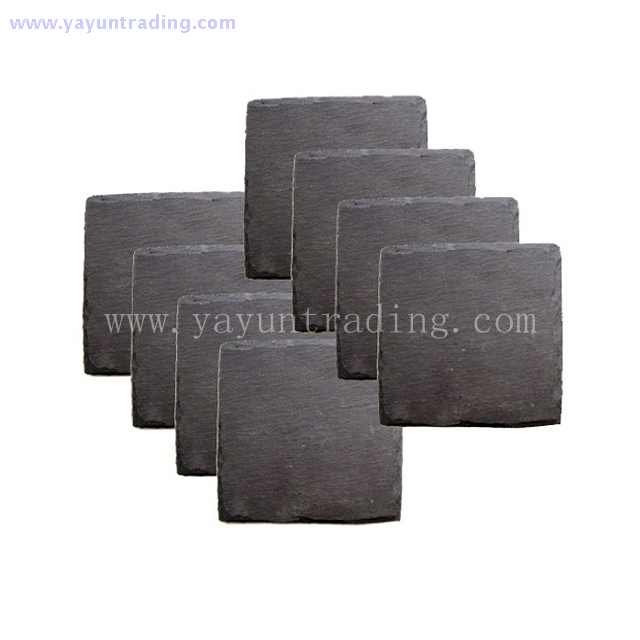 China supplier Yayun made natural slate stone placemats and coasters