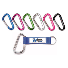 Custom keychain lanyard with aluminium material and logo print for promotion