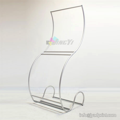 Cobra Shaped Display Banner Stretch Tension Fabric Ez Tube Display Singular Banner Stand