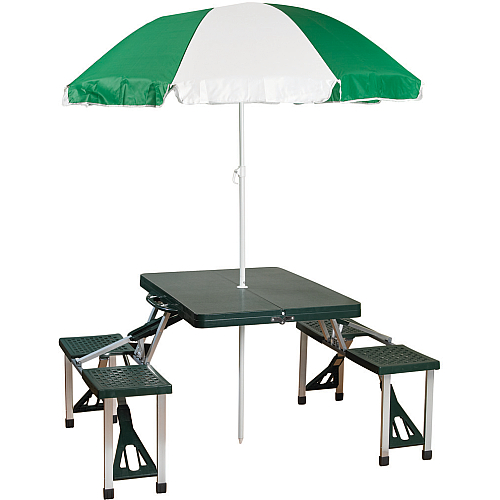 Picnic Table With Umbrella