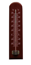 CF308-11 Wooden Thermometer