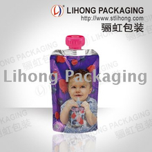 Anti-Choke Screw Cap Beverage Stand Up Pouch For Puree Juice
