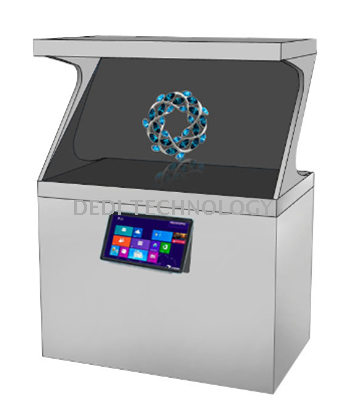 180 degree holographic display cabinet