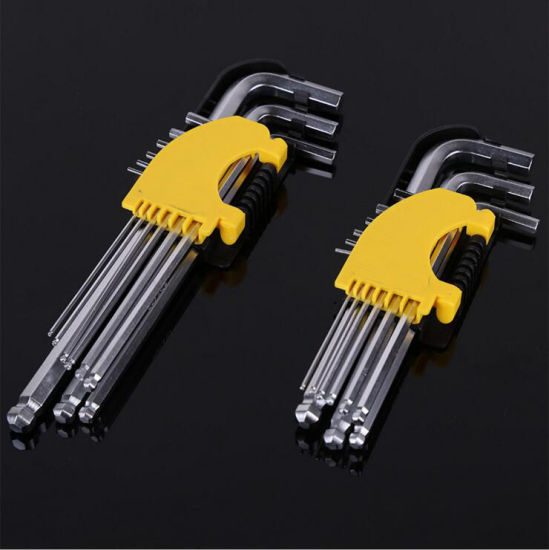Allen Hex Wrench Set with Ball Head