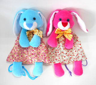 Easter Festival Blue Plush Stuffed Cute Rabbit Kids Gift Bag