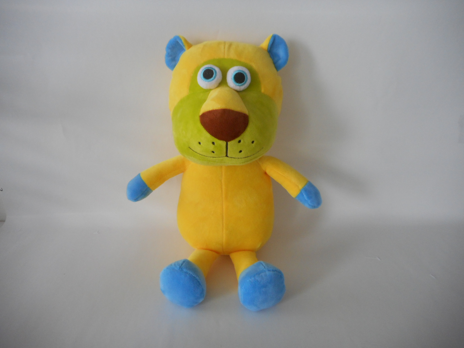 Yellow Cute Cartoon 3D Big Eyes Plush Toy Animals