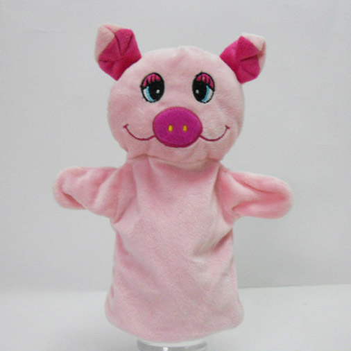 Plush Soft Toy Pig Hand Puppet for Baby