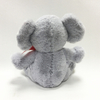 Stuffed Elephant Toys Lovely Soft Grey Valentine Plush Elephant