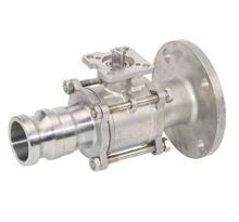 3PC Stainless Steel Quick Joint Flange Ball Valve With Pad