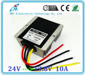 24V drop to 13.8V 10A 15A 20A step down Aluminum alloy shell IP65 waterproof dc dc converter power converter