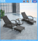 Beach Furniture Garden Hotel Furniture Rattan Reclining Chair