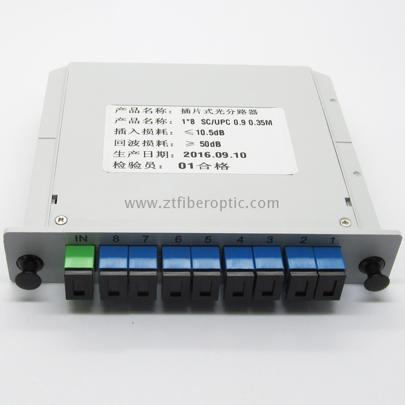 Sc/Upc 1: 8 Optical PLC Splitter