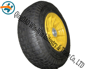 16inch Pneumatic Rubber Wheel with Plastic Rim (6.50-8)
