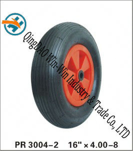 "Pneumatic Rubber Wheel with Plastic Center (16""X480/4.00-8)"