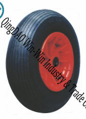 "Pneumatic Rubber Tire with Plastic Center 16""X480/4.00-8"